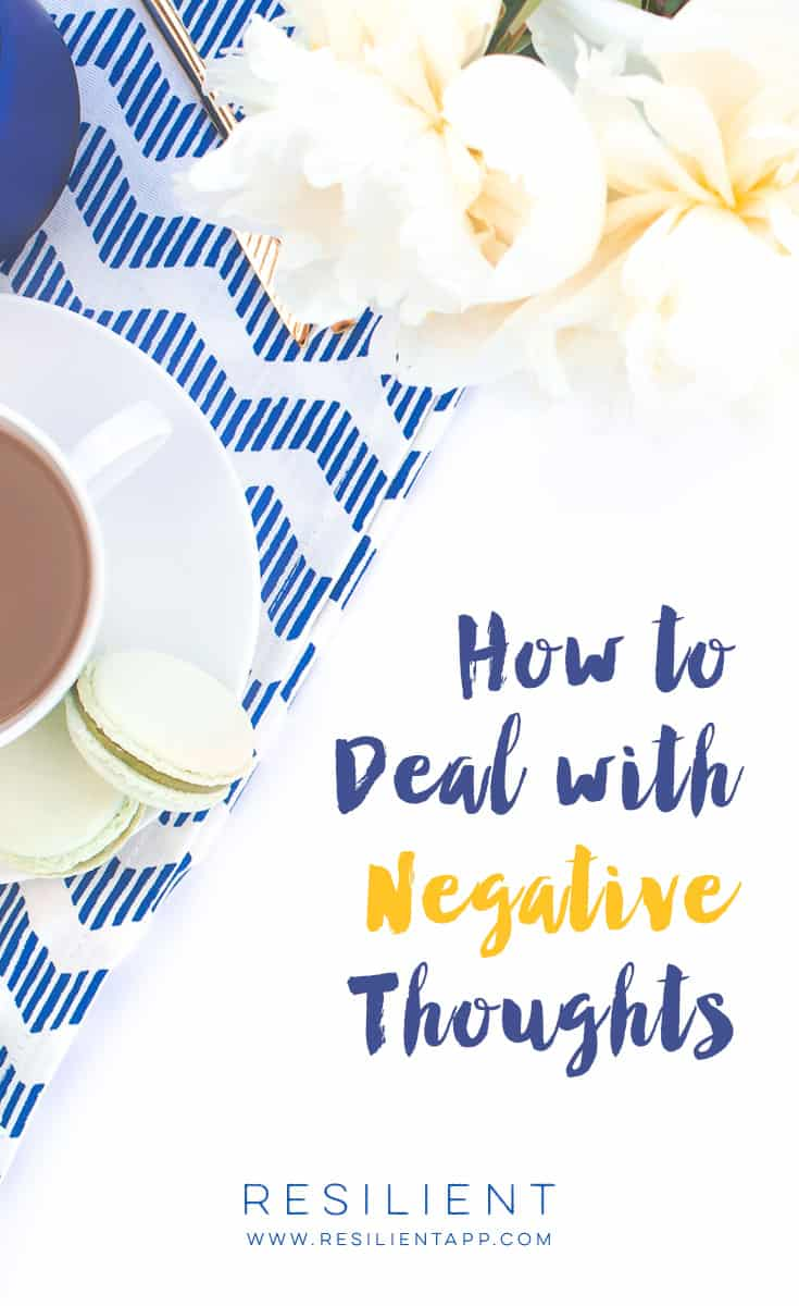 Negative thoughts can derail our entire day. And actually, negative thoughts are what starts every downward spiral. If you stop the thoughts before they get out of hand, then you stop the relapse into old habits before it happens.