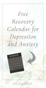 Free Recovery Calendar for Depression and Anxiety