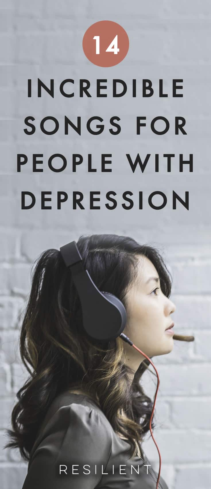 I created this list of the 14 best songs for people with depression originally with the inspirational songs I listen to in order tolift my spirits ifI'mhaving a bad day, and now I want to share it with you. Here are 14 songs for someone with depression.