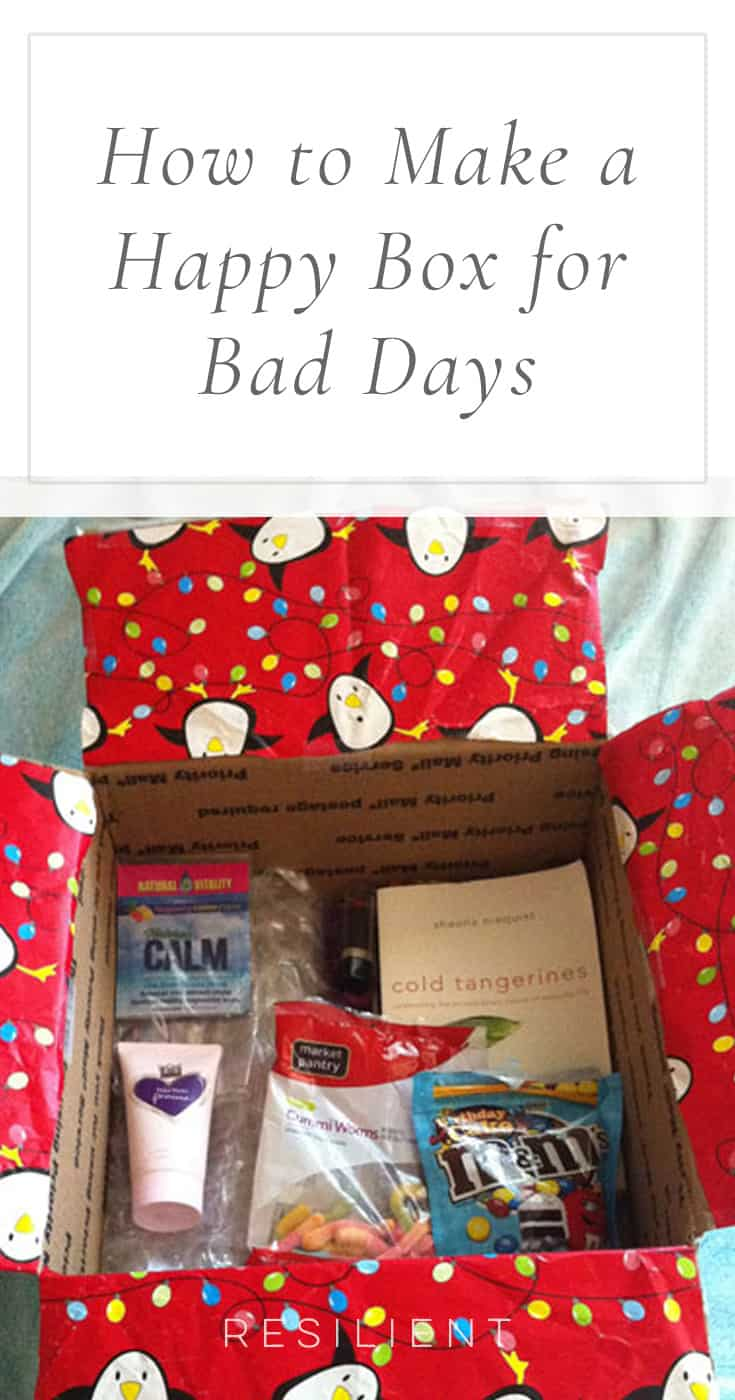 Sometimes when we have a bad day it would be nice if we could just pull out a box of all our favorite things that make us happy so we can smile again. :) I got the idea to make a happy box one summer before I moved out to my own place so I would be prepared for living on my own in case the inevitable bad day ever struck. Here's how to make a happy box.