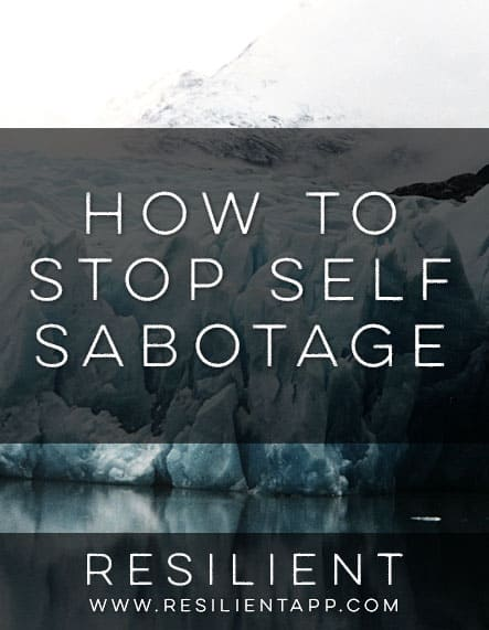 When I was trying to learn how to be happy I reached a point when I felt fairly stable, and yet something was missing. I still had negative thoughts and I couldn't figure out why I was still so depressed all the time. Nearly everything in my life was going right and I felt terribly guilty for being depressed for seemingly no reason. Here's how to stop self sabotage.