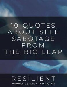 10 Quotes About Self Sabotage from The Big Leap