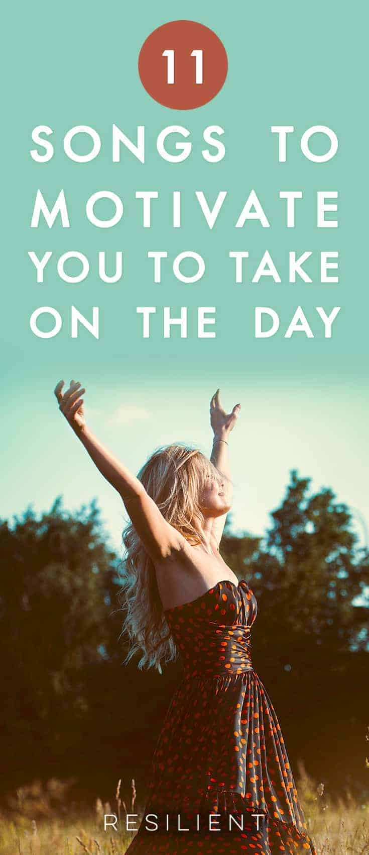 Feeling uninspired and blah? Need to get serious stuff done today? Here are 11 songs to motivate you to take on the day when you need a little boost.