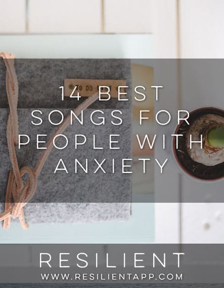 Sometimes you can help your anxiety by listening to some slow, soothing music.  Of course there's always yoga-type music, waterfalls, etc, but these are just regular old songs that are a little slower and have nice lyrics so they'll hopefully make you feel better and less anxious. Here are the 14 best songs for people with anxiety.  Enjoy. :)