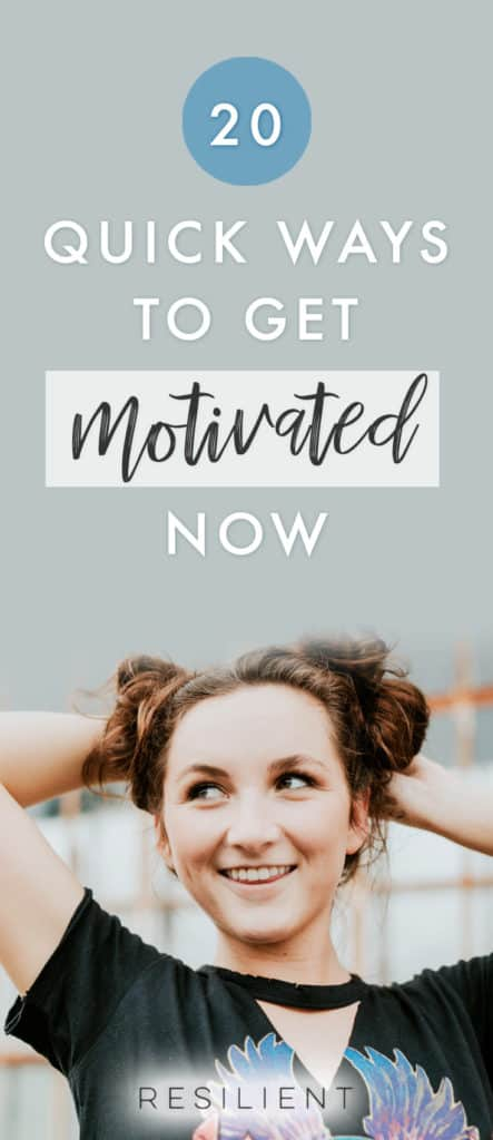 So, you're in need of some quick and dirty motivation so you can get back to getting stuff done and rocking on with your bad self. In just a few minutes, you can motivate yourself back into action with any of these fast techniques. Here are 20 quick ways to get motivated again.