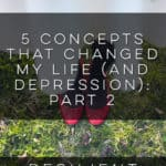 5 Concepts that Changed My Life (and Depression): Part 2