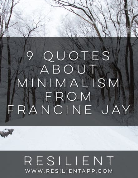 9 quotes about minimalism from francine jay for Who started minimalism
