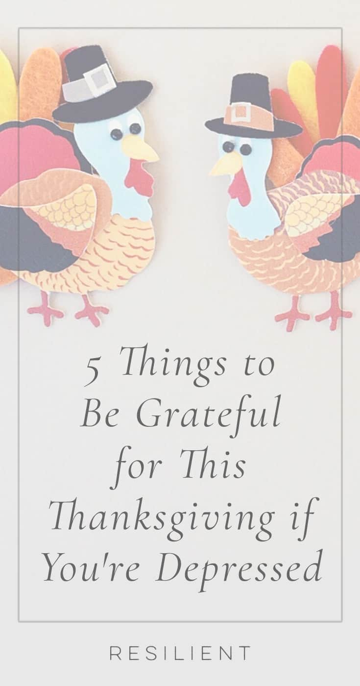 Thanksgiving is still a ways away, but since we're in fall I figured I could start writing posts about Thanksgiving. :) So, to start getting you thinking about gratitude this season, here are 10 things to be grateful for this Thanksgiving if you're depressed. I can almost guarantee that these are all things you can be grateful for in your own life.