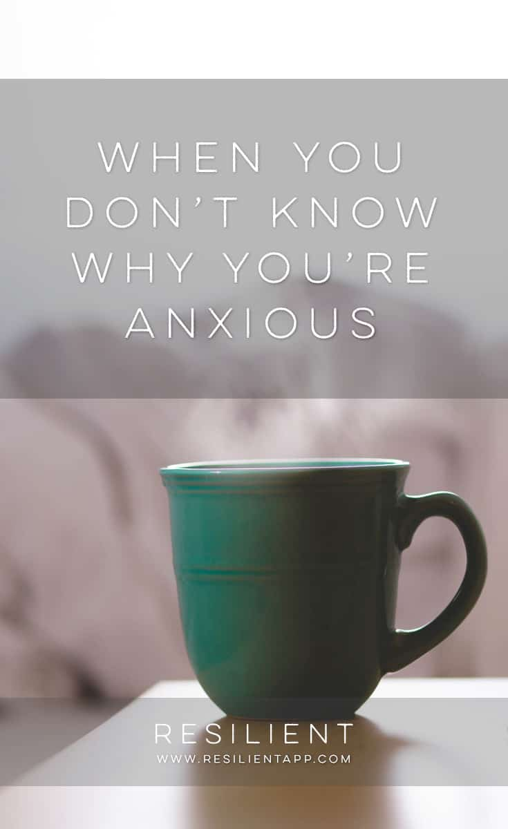 Sometimes you just don't know why you're anxious. It seems like things are going pretty well in your life (or at least there aren't any noticeable bumps in the road), but still, you feel a little anxious all the time. Here's what to do when you don't know why you're anxious.