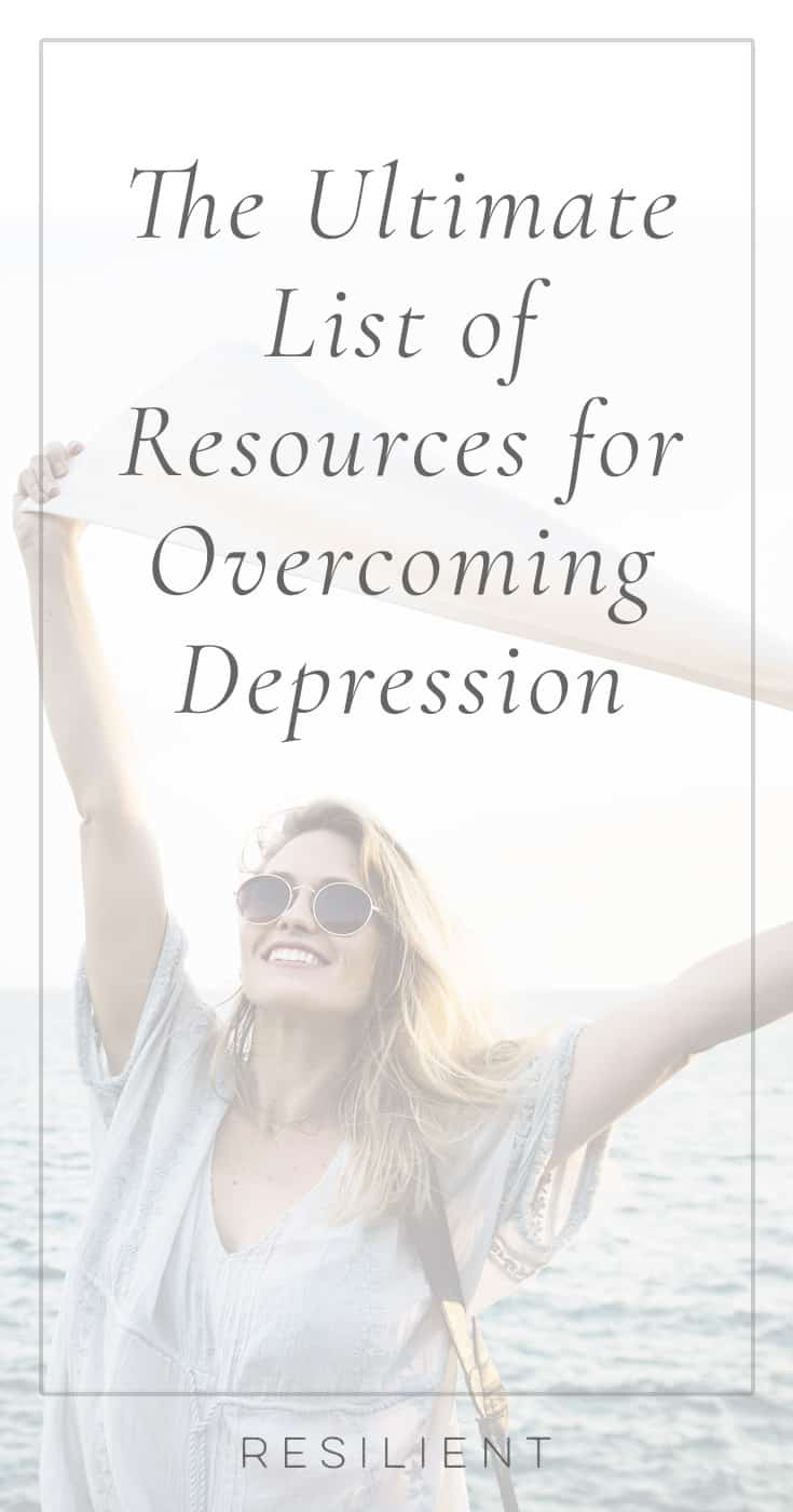 I put together this ultimate list of resources for overcoming depression from Resilient and other resources, websites, books, etc in order to help you overcome depression. I wanted this to be the perfect starting point for beginning your journey, a link to send to friends struggling with depression, and the ultimate list of resources and posts about overcoming depression, mixed in with some tips and other helpful things.