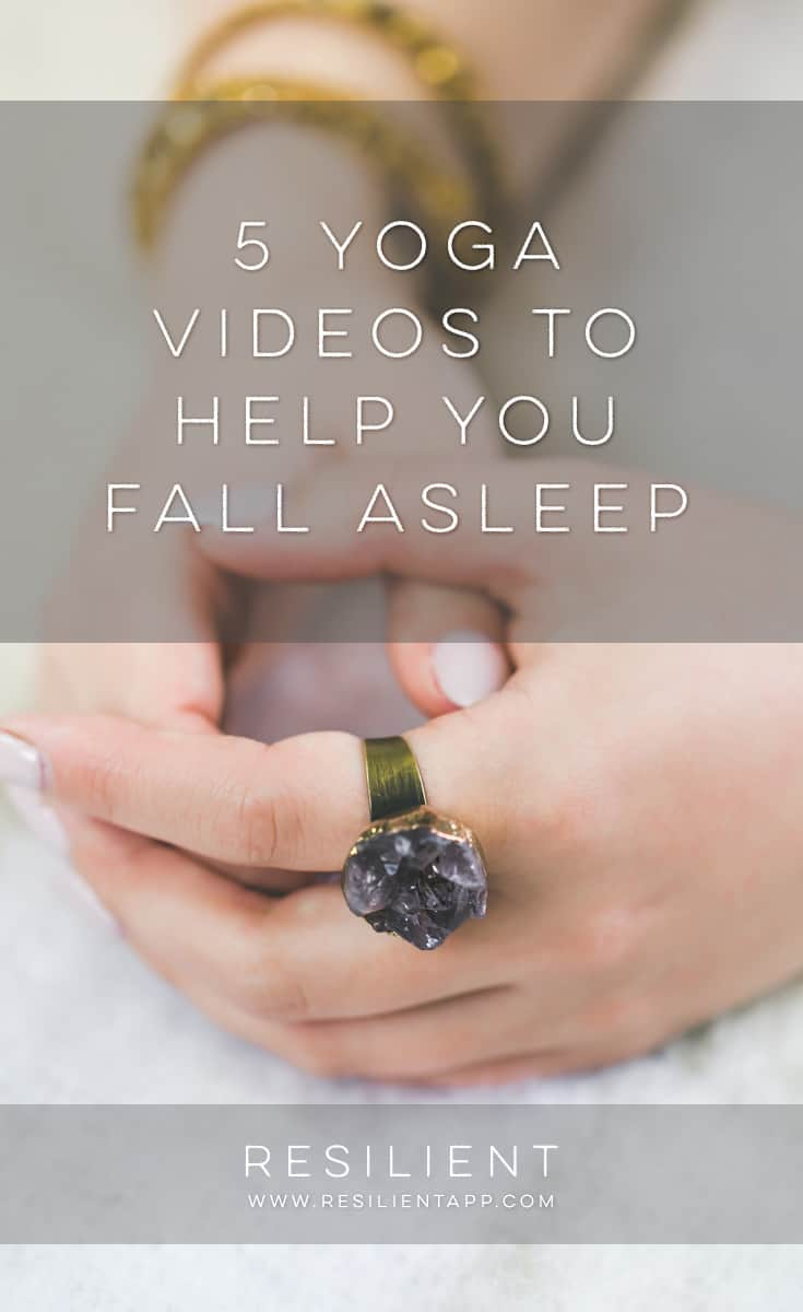 Sometimes depression and anxiety cause insomnia and make it hard to sleep. Yoga can not only help relax you and help you fall asleep, but can also help alleviate symptoms of depression. Here are 5 yoga videos to help you fall asleep.