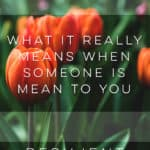 What It Really Means When Someone is Mean to You