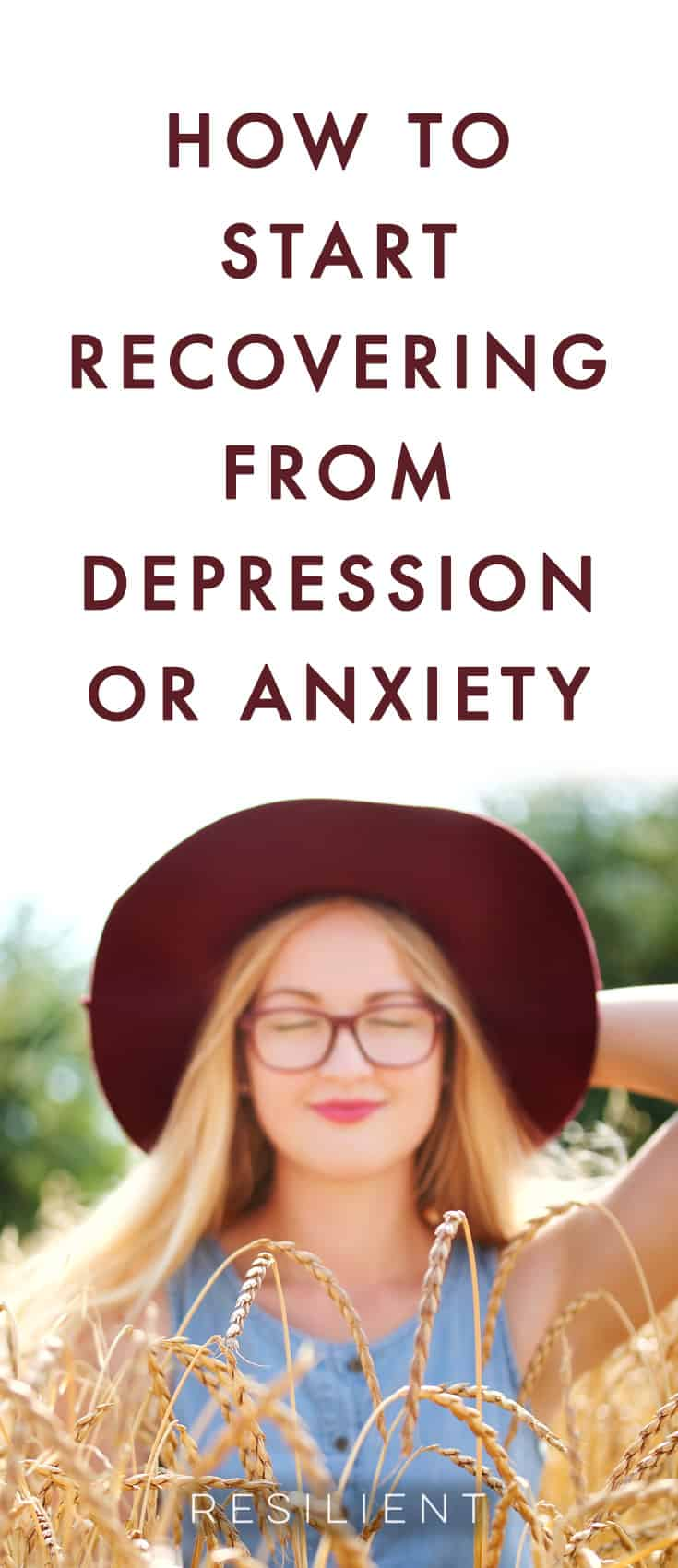 So, you're here.  This is a big step.  Maybe it's your first step.  Maybe you're a little scared right now.  And maybe you're a lot depressed, or anxious.  Maybe you're panicking a little on the inside.  Here's how to start recovering from depression or anxiety.