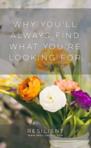 Why You'll Always Find What You're Looking For