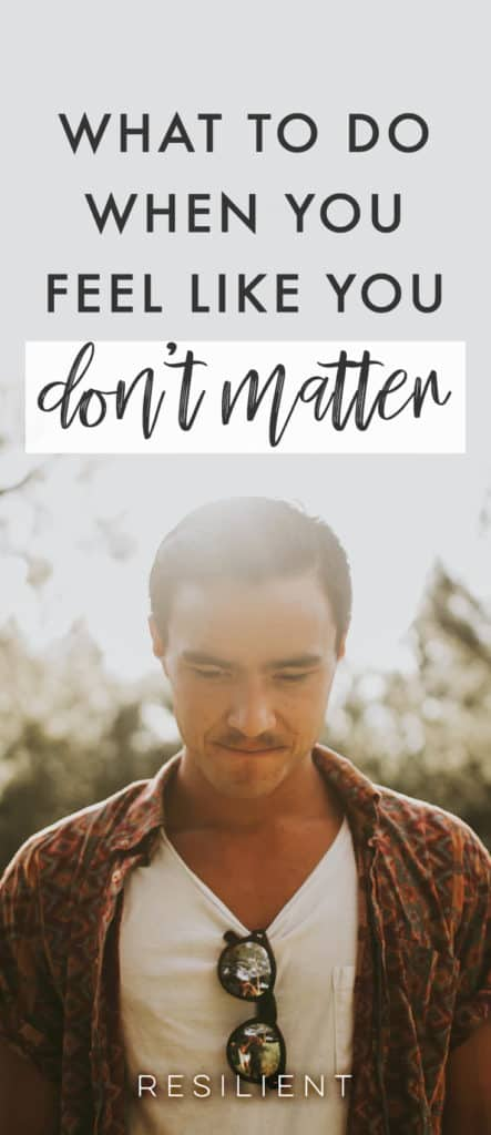 If you're depressed, it's easy to feel like you don't matter. But I'm here to tell you that you do matter, even when it doesn't feel like it. 😃 Here's what to do when you feel like you don't matter.