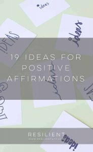 19 Ideas for Positive Affirmations