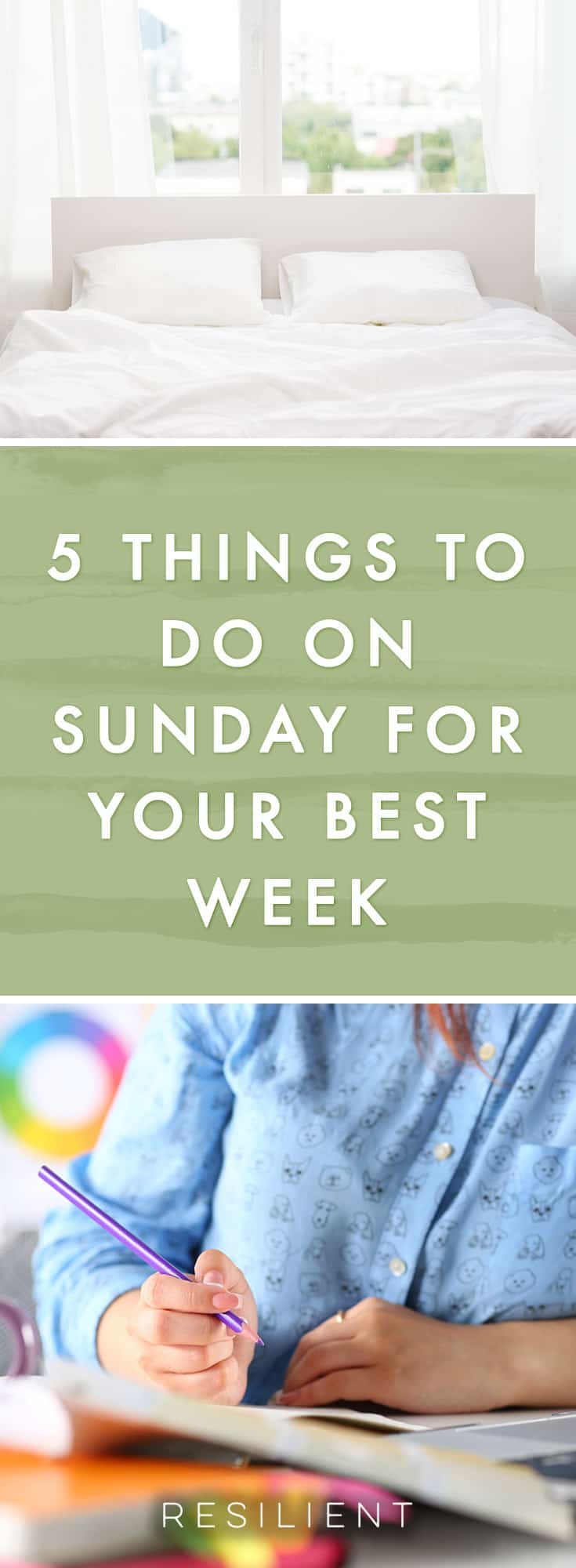 With a little planning and preparation, things in life become a lot easier and your week can go much more smoothly and save you a lot of stress. Here are 5 things to do on Sunday for a better week.