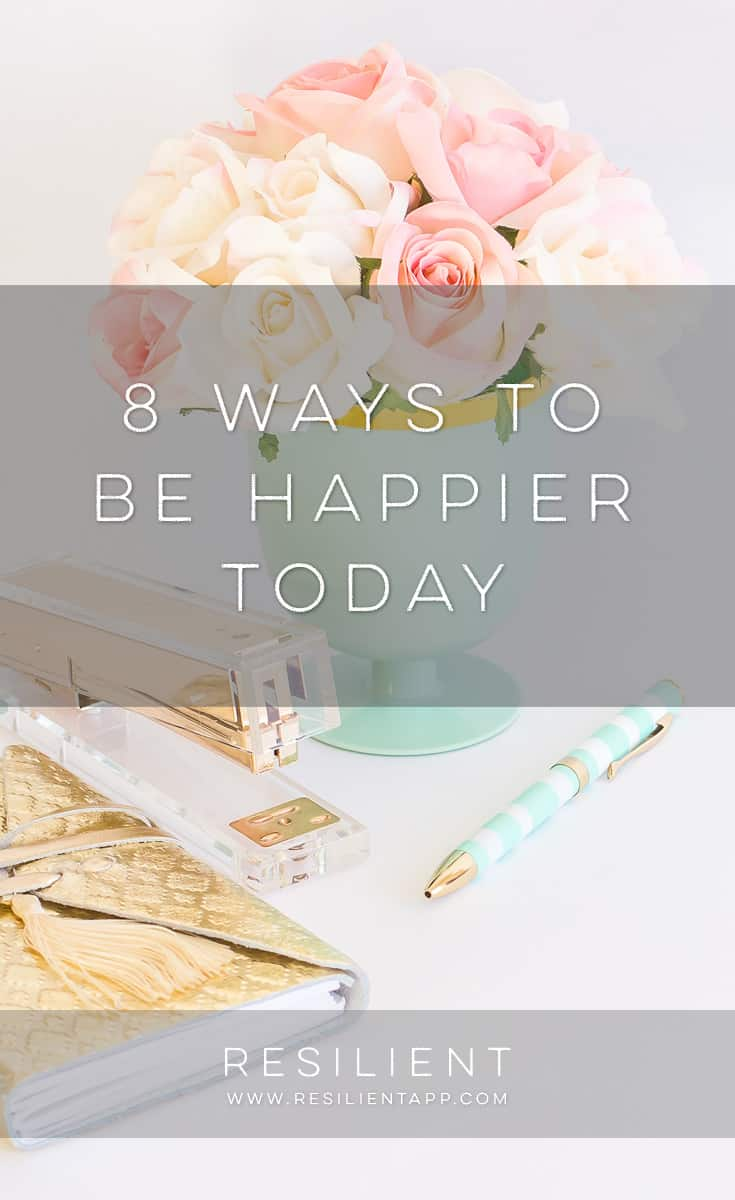 There are a few simple steps you can take today or this week to be happier right away. Of course, happiness is a long term journey, but you can start at any point. Here are 8 ways to be happier today.