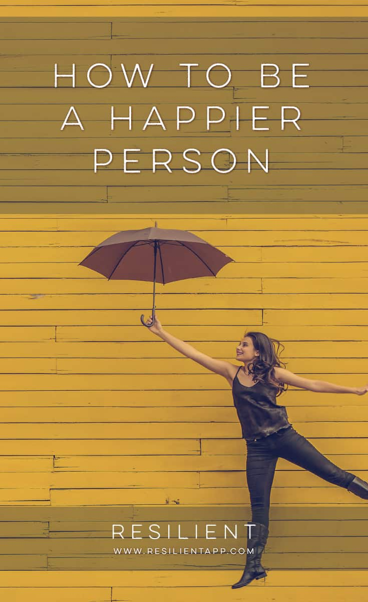 Happiness is something we all strive for, but at times it can seem very elusive. Many of us equate happiness with something outside ourselves, such as material possessions, money or a good job. Here's how to actually be a happier person.
