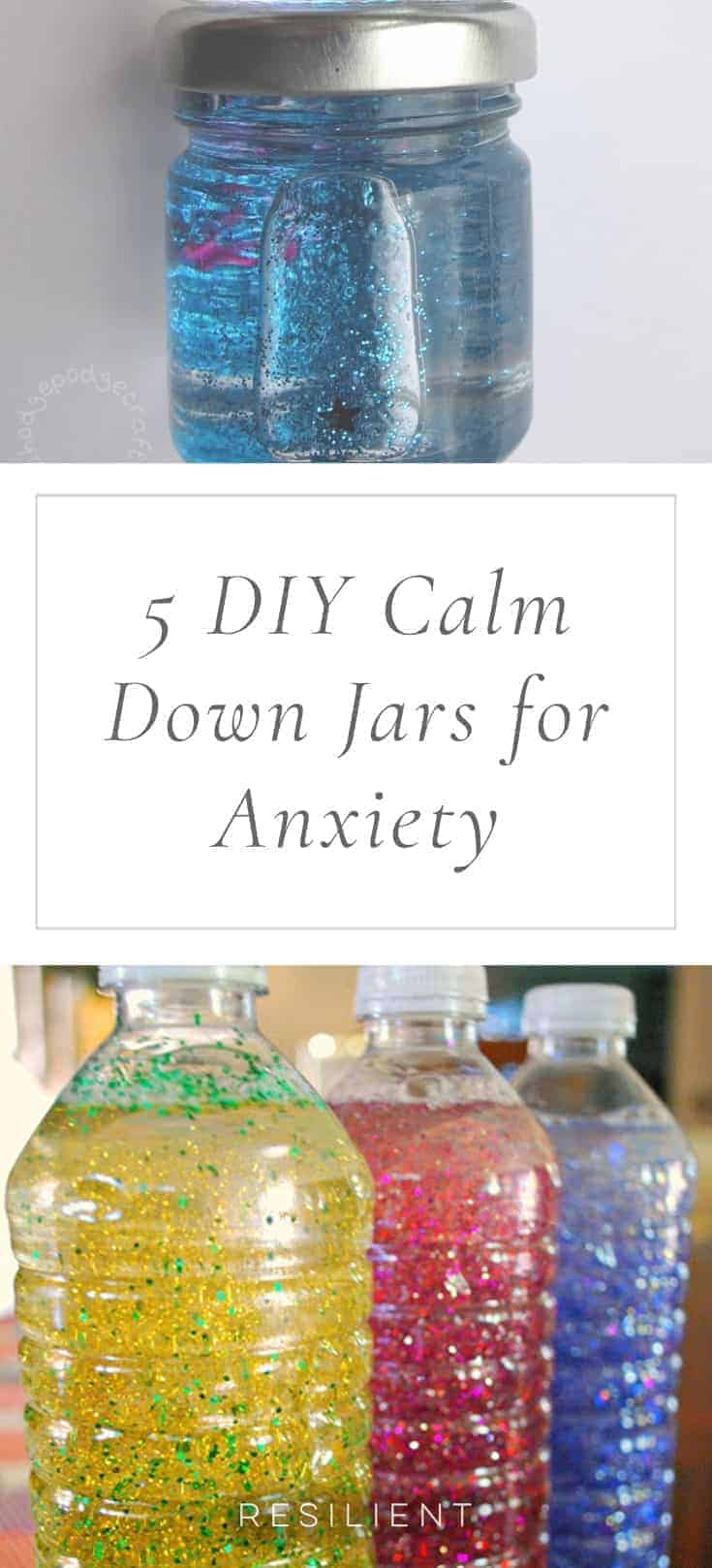 """I saw a cool project the other day called """"calm jars,"""" """"calm down jars,"""" or a """"mindfulness jar,"""" and thought it would be a great craft to do if you have anxiety. Here's how to make a DIY calm down jar for anxiety."""