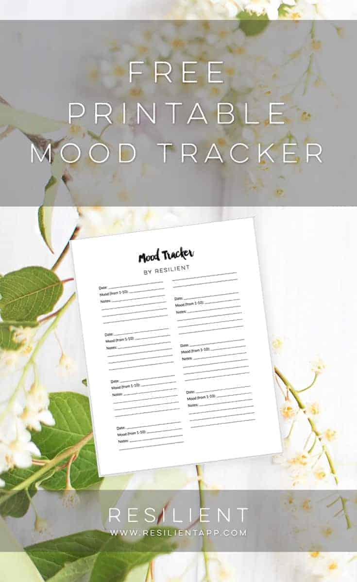 Tracking your moods from day to day and over time can be a helpful way to pinpoint what's not working in your life, what's causing you extra stress, and what factors are contributing to feeling anxious or depressed. Here's a free printable mood tracker so you can keep track of how your mood changes over time and what's affecting it.