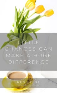 When I'm feeling down, I make a list of what's contributing to the down-ness. Little changes can ultimately make a big difference in how you feel. Here are a few examples of things that might be making you feel bad.