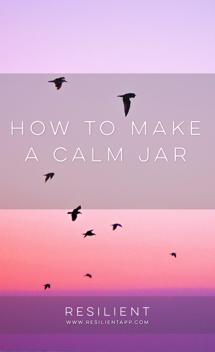 """I saw a cool project the other day called """"calm jars,"""" """"calm down jars,"""" or a """"mindfulness jar,"""" and thought it would be a great craft to do if you have anxiety. Here's how to make a calm jar."""