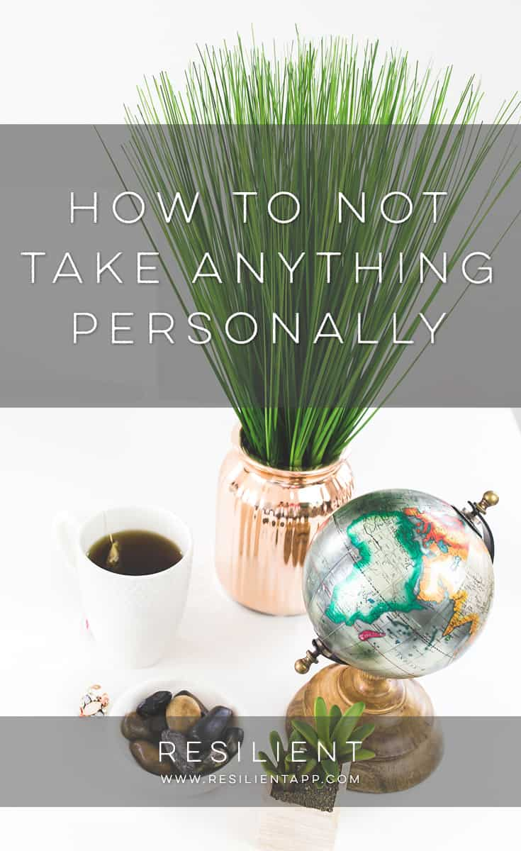 "One of the agreements in Don Miguel Ruiz's book ""The Four Agreements"" is ""Don't Take Anything Personally."" I have found this small but powerful piece of advice paramount in achieving personal happiness. At first glance you might be thinking ""duh, that's easy"" but try it for a day and you'll see how difficult (but powerful) it really is. Here's how to not take anything personally."