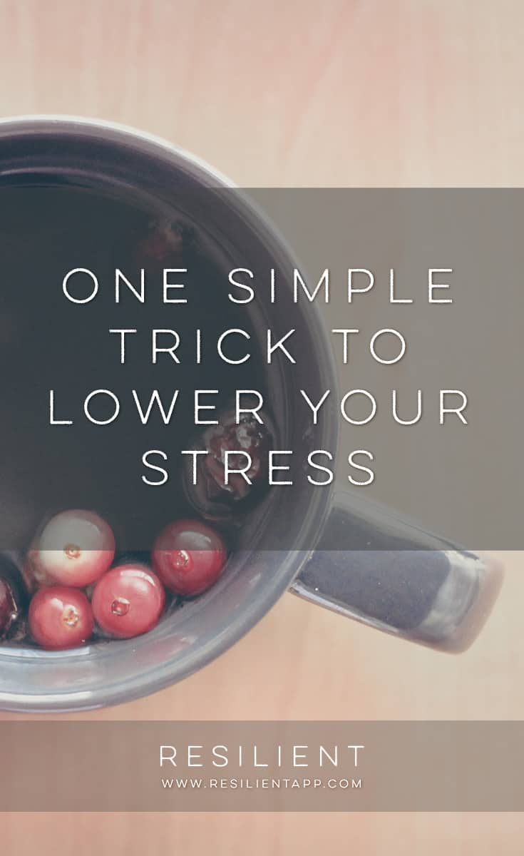 Reducing the amount of stress in your life is helpful in creating a calmer, more peaceful life for yourself. Here is one simple trick to lower your stress.