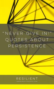 """""""Never Give In!"""" Quotes About Persistence"""