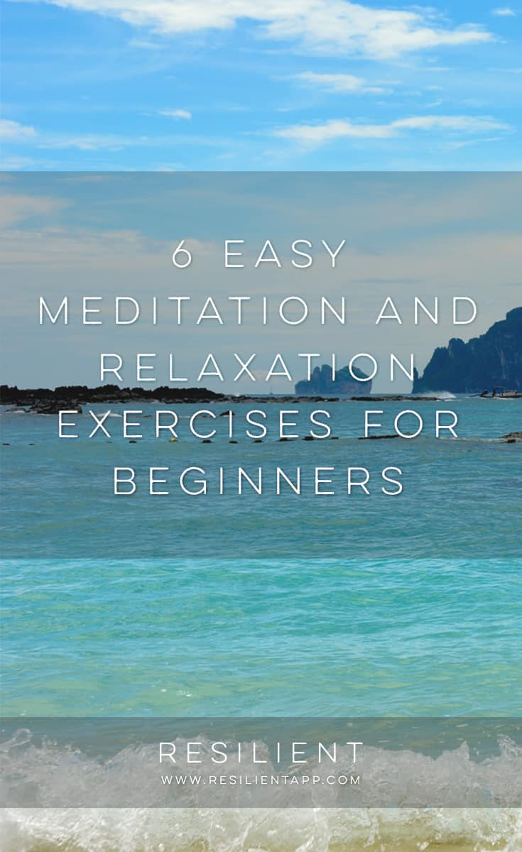 Learning to meditate can seem difficult and intimidating. It doesn't have to be. The best way to learn to meditate is just to jump in. Pick an exercise below that appeals to you. Don't overdo it at first. Start with only a minute or two at a time, and work up to longer sessions only when you feel comfortable. Here are 6 easy meditation and relaxation exercises for beginners.