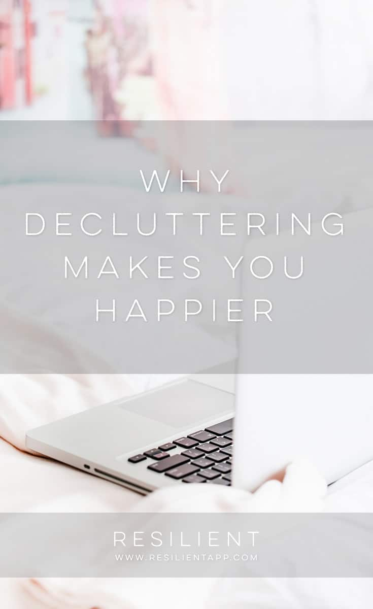 As weird as it sounds, decluttering your stuff can actually make you feel a little happier and less stressed. The less clutter you're surrounded by, the more the proverbial weight lifts off your shoulders. Here's why decluttering makes you happier.
