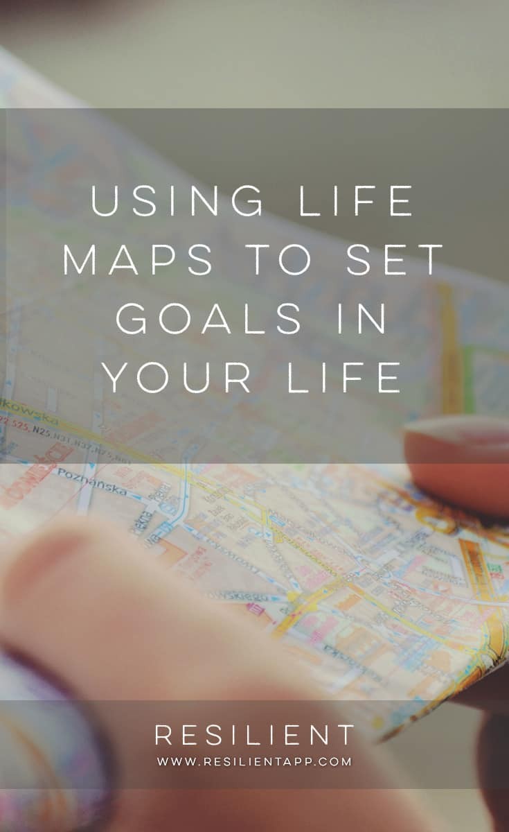 A life map is a visual representation of a person's life. It can have anything that has meaning to the owner such as key life events, emotions, people, goals and dreams. Life maps are used to gain self-knowledge, set personal objectives or just for fun.