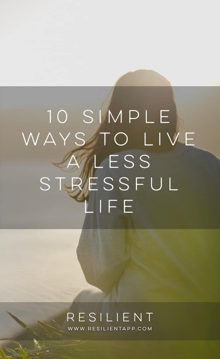 Stress is a major problem for many people — a hectic, stressful job, a chaotic home life, bills to worry about, and bad habits such as unhealthy eating, drinking and smoking can lead to a mountain of stress. If your life is full of stress, like mine once was, here are 10 simple ways to live a less stressful life.