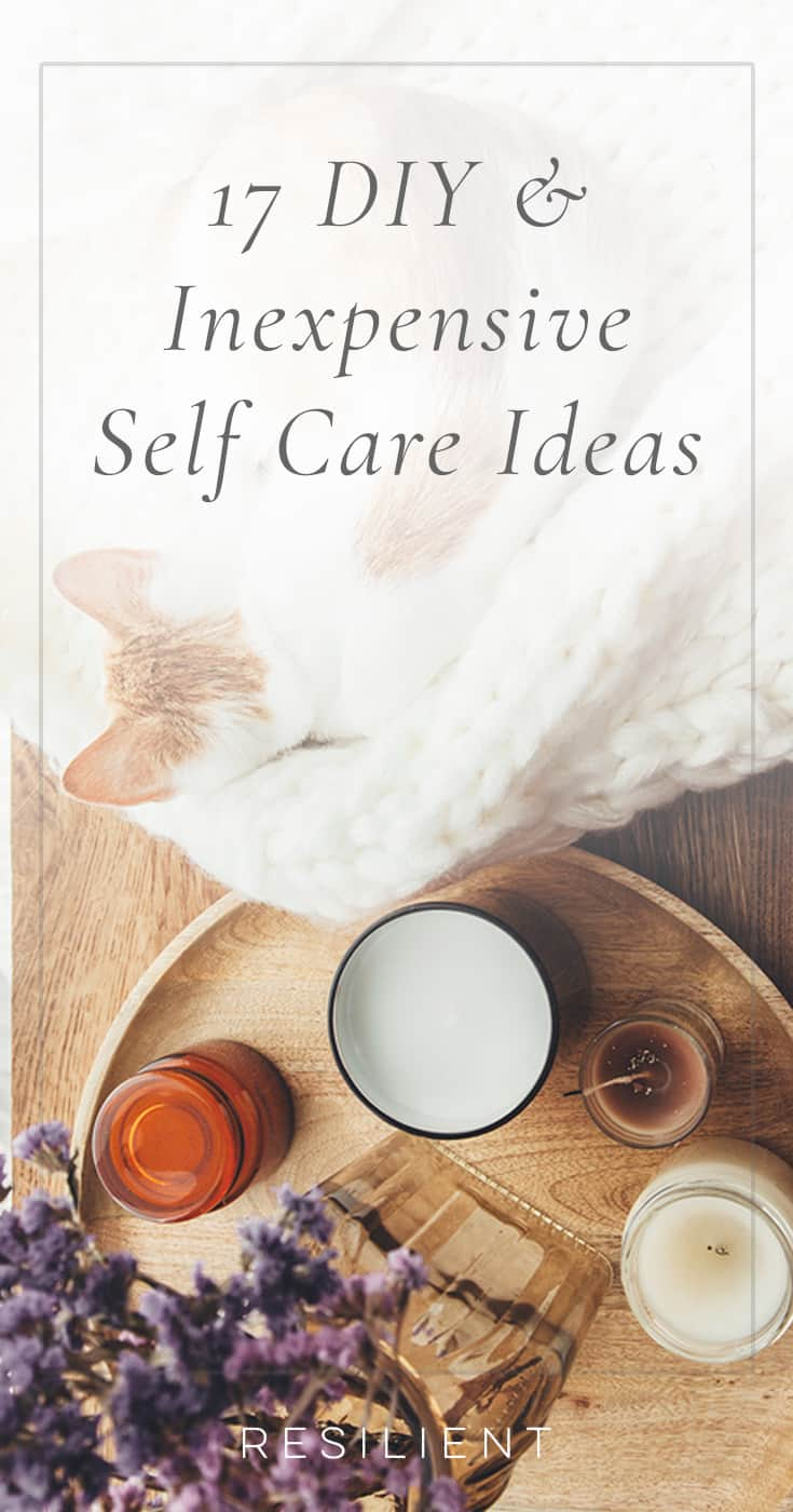 Self care is an important part of taking care of your mental health, but things like getting a massage or facial are pretty expensive. Instead, here are 17 inexpensive ideas for self care.