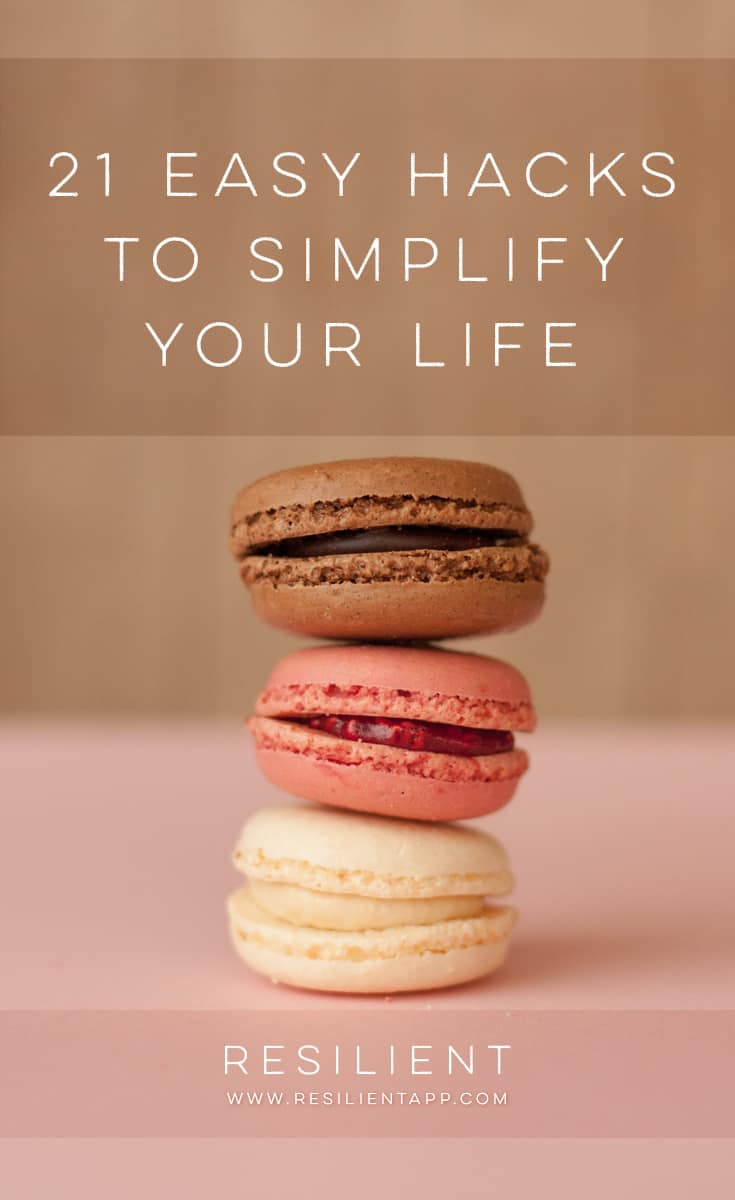 If you're trying to simplify your life, it's best to follow the four simple steps I've outlined before — it's just the simplest method. But sometimes life gets in the way, and you need a workaround, some way to get past your usual obstacles and to trick yourself into keeping things simple. Here are 21 easy hacks to simplify your life.