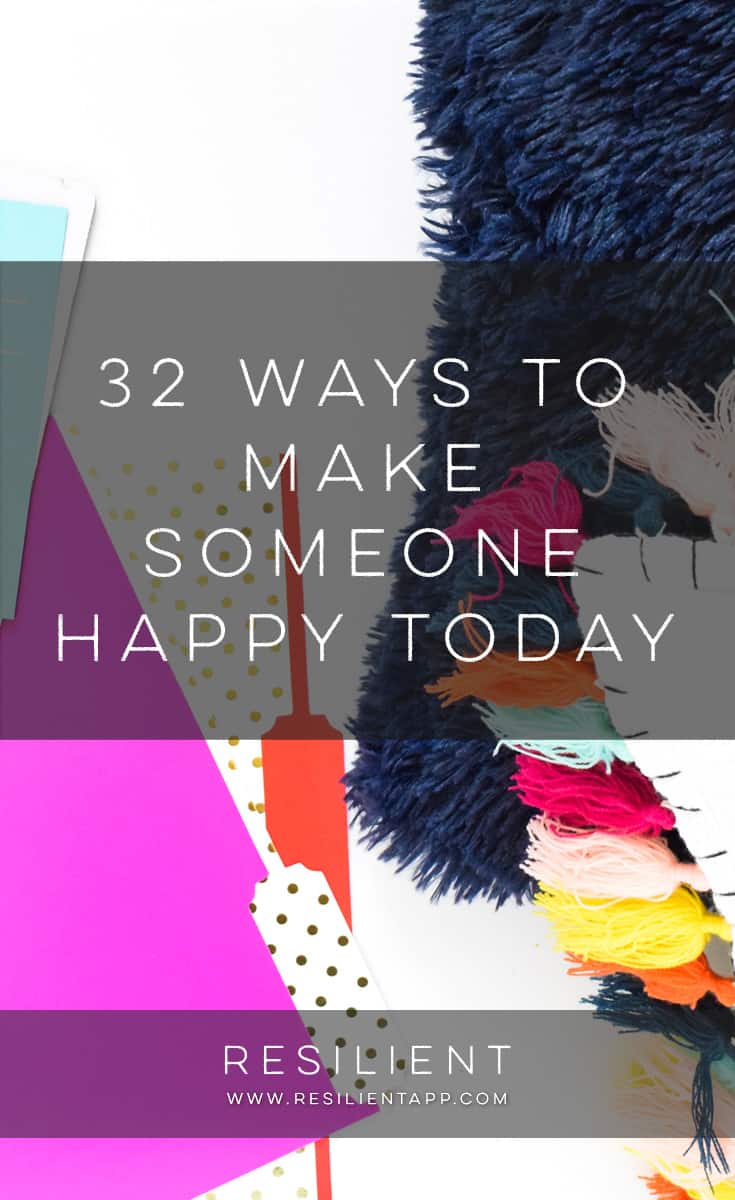 Just thought I'd give all of you a nice list of things to think about. This isn't an in-depth post, but more of a thought for the day — is there someone you'd like to make happy today? Making others happy is one of the best ways to have a great day yourself. It can brighten the world around you. Here are 32 ways to make someone happy today.