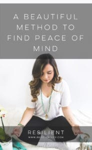 A Beautiful Method to Find Peace of Mind