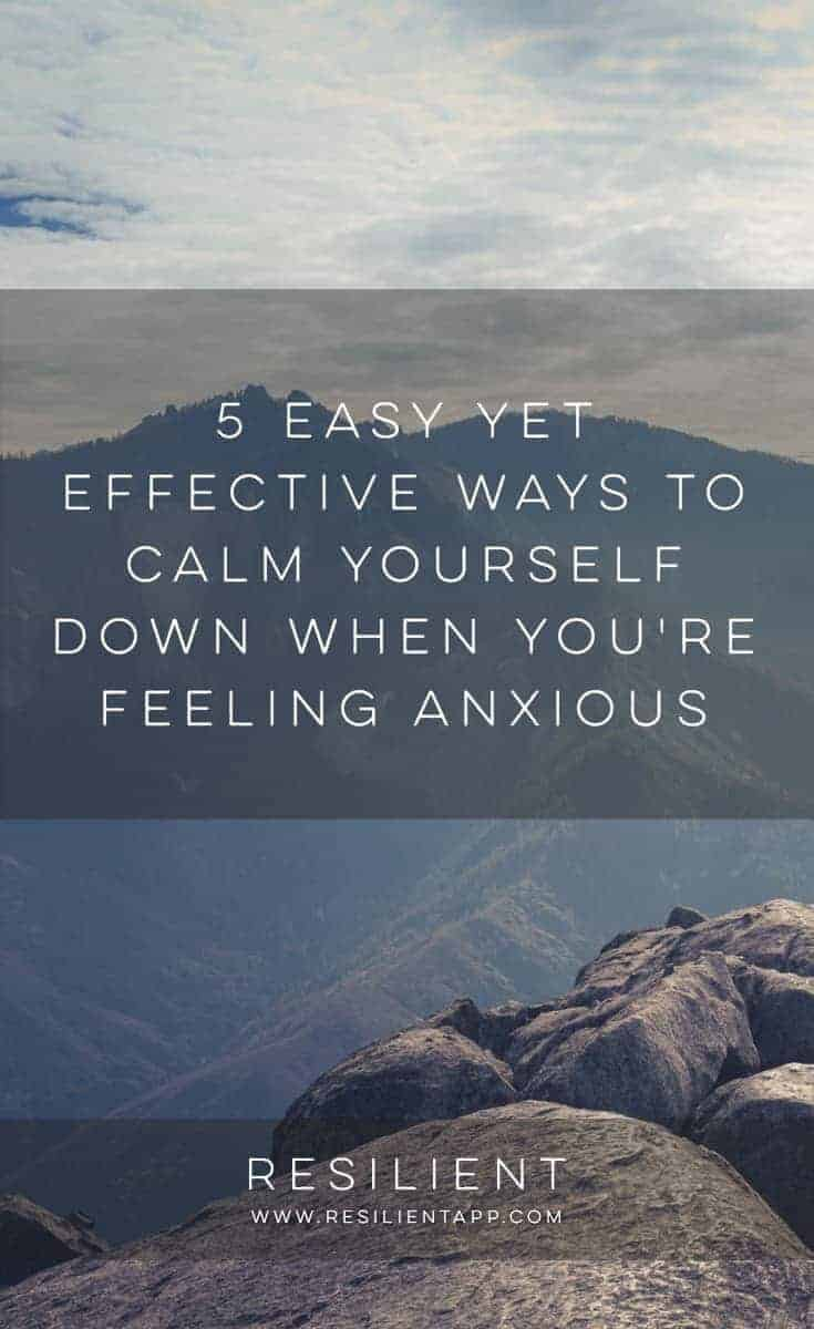 Sometimes nothing feels quite as awful than anxiety. In this state of mind, we tend to think of only the worst case scenarios. It robs us of our joy, makes us lose focus and leaves us feeling as if we have no control over our own lives. Here are 5 easy yet effective ways to calm yourself down when you're feeling anxious.