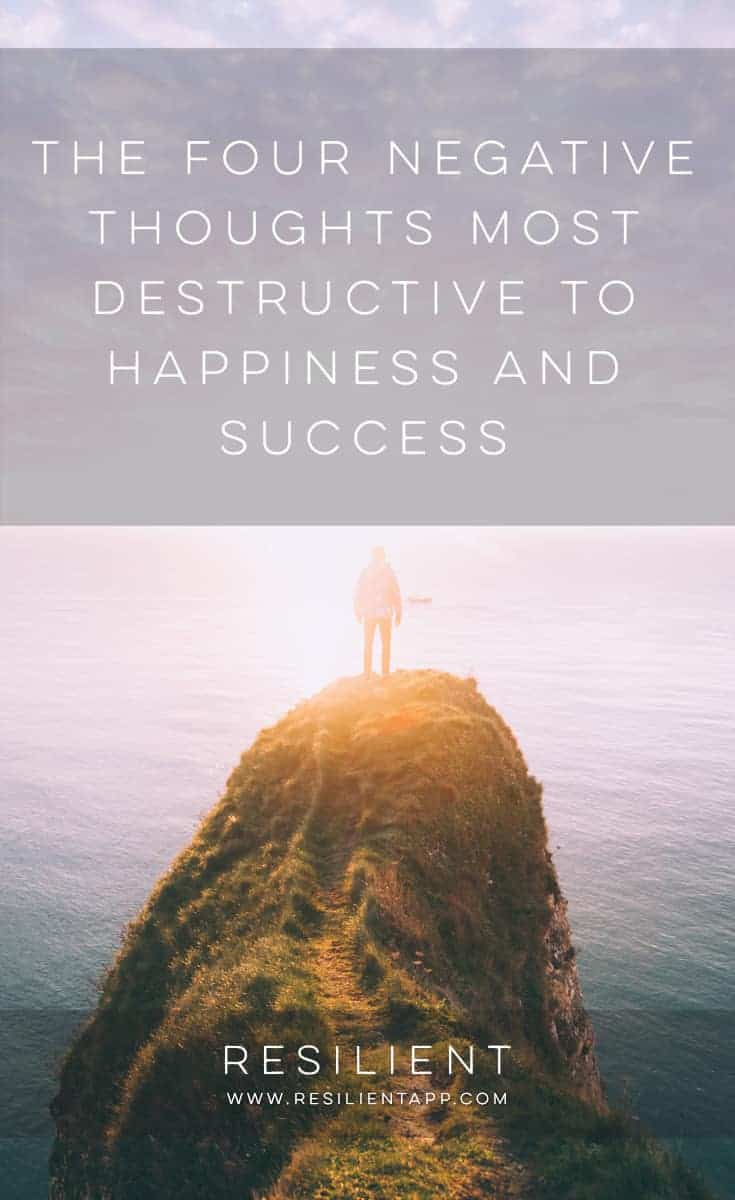 All of us desire success and happiness in life. Yet, we are often the reason we are unhappy, dissatisfied, and unable to reach our goals. The problem lies in destructive, negative thought patterns. Bad thoughts of this sort are like an enormous weight that we must carry around with us. Harmful thought patterns make accomplishing anything hard, but eliminating them is difficult. Still, learning to recognize destructive thoughts can help you control them: here are the five negative thoughts you should most try to avoid.