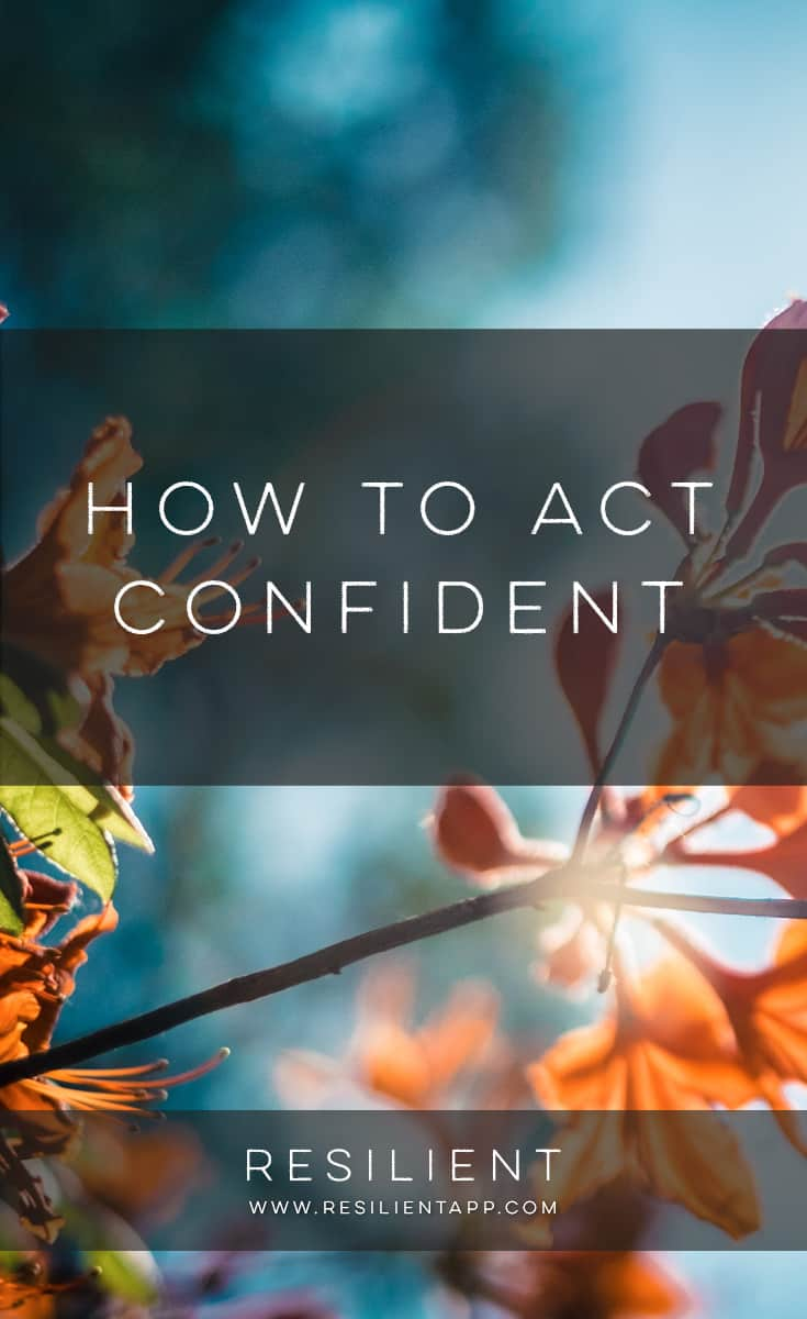 Acting confident even when you aren't can benefit you in many ways. People are less likely to take advantage of someone who appears to be confident. More confident people are more open to trying new things. This article outlines 5 ways that you can act confident.