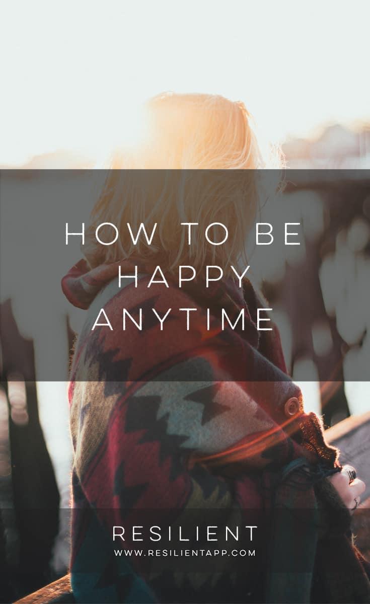 I've noticed that in the past, like many people, I was always wishing I was doing something different, thinking about what I would do in the future, making plans for my life to come, reading (with jealousy) about cool things other people were doing.  It's a fool's game.  Here's how to be happy anytime instead.