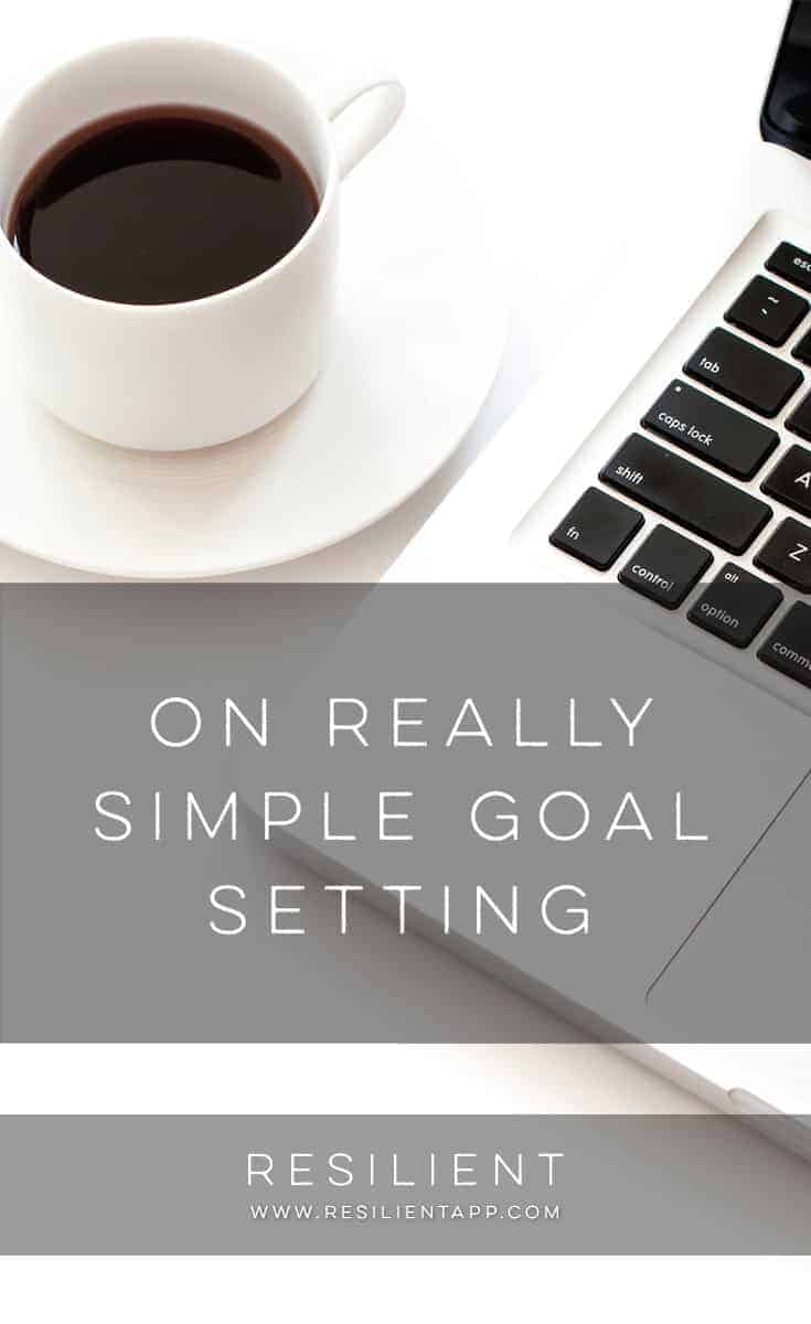 The key to simple goal setting is to not have too many goals. In fact, regular readers know that I advocate One Goal when possible. While that's not always possible for some people, having too many goals makes things complicated and requires a more complicated system for keeping track of your goals.