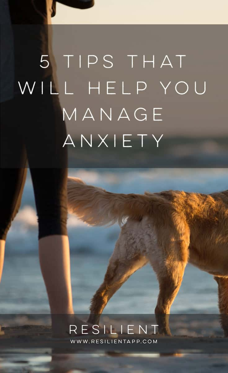 Anxiety impacts millions of people all around the world, and sometimes it increases with age and the burden of more responsibilities. What you may not realize is how common anxiety issues are, and how simple tools can be used to help bring back control and happiness to your life. Here are 5 tips that will help you manage your anxiety and keep you from spiraling into despair.