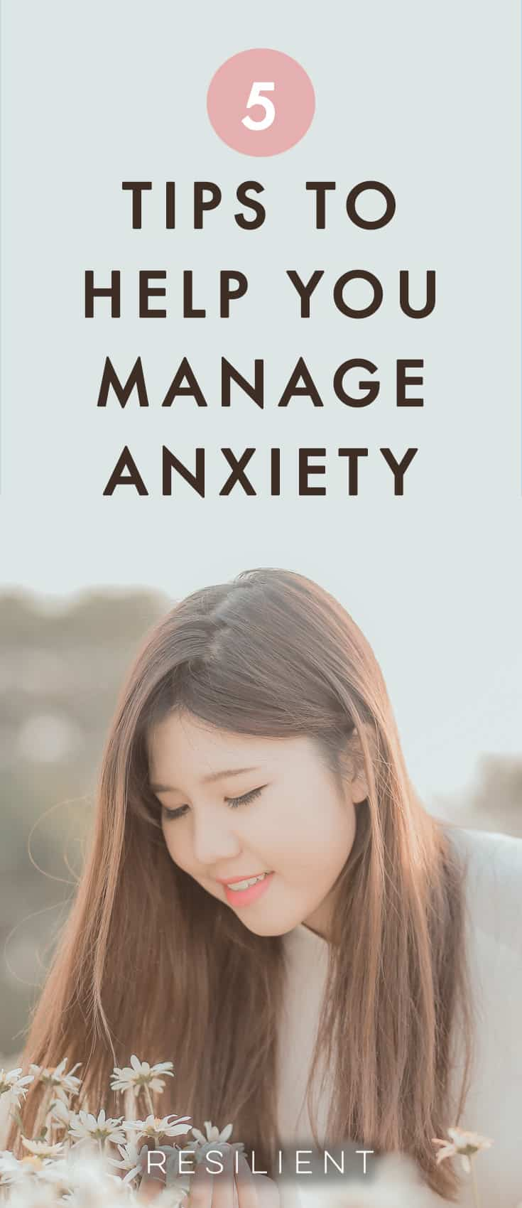 Anxiety impacts millions of people all around the world, and sometimes it increases with age and the burden of more responsibilities. What you may not realize is how common anxiety issues are, and how simple tools can be used to help bring back control and happiness to your life. Here are 5tips that will help you manage anxiety and keep you from spiraling into despair.