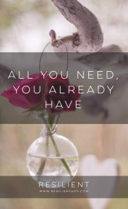 All You Need, You Already Have