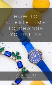 When I decided to change my life several years ago, I had a very common problem: I didn't have the time. I wanted to exercise and find time for my family and eat healthier (instead of the fast-food I'd been eating) and read more and write and be more productive and increase my income. Here's how to create time to change your life.
