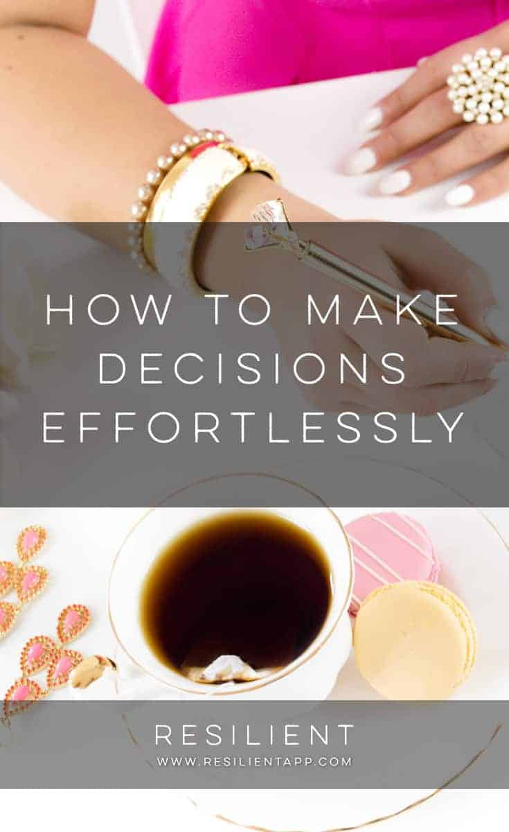 How do you make a choice when you're stuck at a fork in the road? How can you decide when two or more possibilities seem equally good? Here's how to make decisions effortlessly.