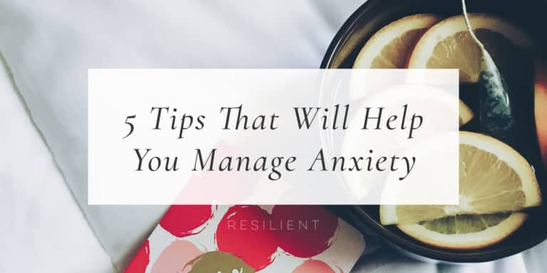 Anxiety impacts millions of people all around the world, and sometimes it increases with age and the burden of more responsibilities. What you may not realize is how common anxiety issues are, and how simple tools can be used to help bring back control and happiness to your life. Here are 5 tips that will help you manage anxiety and keep you from spiraling into despair.