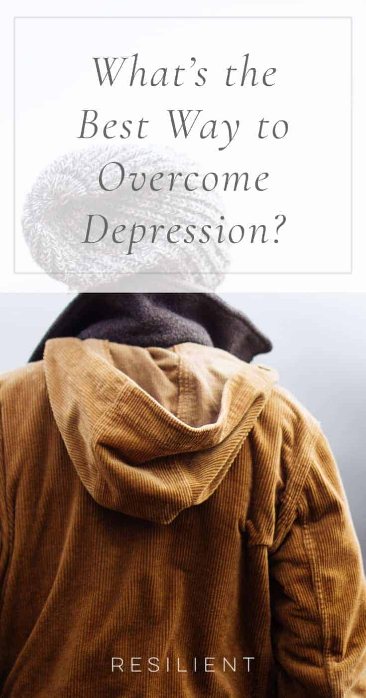 "If you're depressed and looking for a way to be happier, you might be wondering exactly what you should do and if there's a ""best"" way to approach everything. What's the best way to overcome depression?"